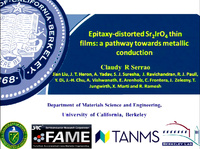 Epitaxy-distorted Sr2IrO4 Thin Films: A Pathway towards Metallic Conduction