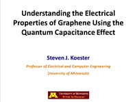 Understanding the Electrical Properties of Graphene Using the Quantum Capacitance Effect
