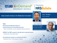 Data-Centric Science for Materials Innovation