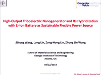 High Power Triboelectric Nanogenerator and Its Hybridization with Li-Ion Battery as Sustainable Flexible-Power-Unit