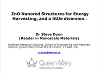 ZnO Nanorod Structures for Energy Harvesting