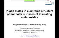 In-gap states in electronic structure of nonpolar surfaces of insulating metal oxides