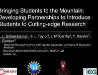 Bringing Students to the Mountain: A Model for Developing Partnerships to Introduce Students to Cutting-Edge Research