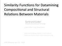 Similarity Functions for Datamining Compositional and Structural Relations Between Materials