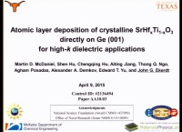 Atomic Layer Deposition of Crystalline SrHfxTi1-xO3 Directly on Ge (001) for High-K Dielectric Applications