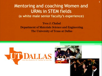Mentoring and Coaching Women and URMs in STEM Fields