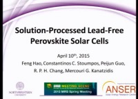 Solution-Processed Lead-Free Perovskite Solar Cells