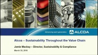Panel Discussion: Industry Perspectives on Sustainability Across the Supply Chain: Challenges and Opportunities