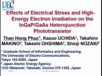 Effects of Electrical Stress and High-Energy Electron Irradiation on the InGaP/GaAs Heterojunction Phototransistor
