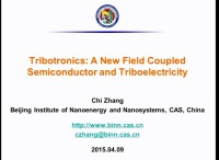 Tribotronics: A New Field Coupled Semiconductor and Triboelectricity
