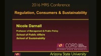 Consumers, Regulation and Sustainability