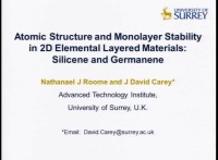 Atomic Structure and Monolayer Stability in 2D Elemental Layered Materials: Silicene and Germanene