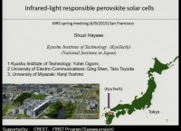 Infrared-Light-Responsible Perovskite Solar Cells Consisting of Sn and Pb