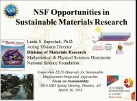 NSF Opportunities in Sustainable Materials Research