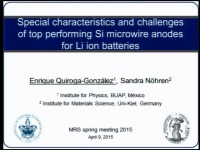 Special Characteristics and Challenges of Top Performing Silicon Microwire Anodes for Li Ion Batteries
