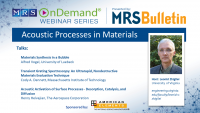 Acoustic Processes in Materials