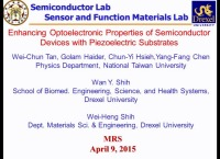 Enhancing Optoelectronic Properties of Semiconductor Devices with Piezoelectric Substrates