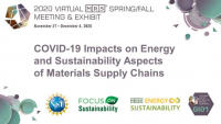 COVID-19 Impacts on Energy and Sustainability Aspects of Materials Supply Chains