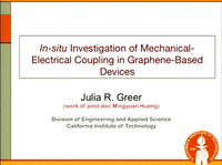Electronic-Mechanical Coupling in Graphene from in situ Nanoindentation Experiments and Multiscale Atomistic Simulations