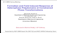 Formation and Field Induced Response of Heterophase Polydomains at Constrained Phase Transformations