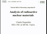 Tutorial EE: Analysis of Radioactive Nuclear Materials