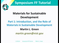Tutorial FF: Materials for Sustainable Development