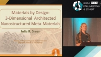 """Three Dimensional Architected Nanostructured Meta-Materials"" - the 2014 MRS Fall Meeting Kavli Early Career Award in Nanoscience"