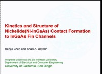Kinetics and Structure of Nickelide Contact Formation to InGaAs Fin Channels