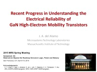 Recent Progress in Understanding the Electrical Reliability of GaN High-Electron Mobility Transistors