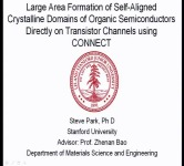 Large Area Formation of Self-Aligned Crystalline Domains of Organic Semiconductors on Transistor Channels using a Novel Crystallization Technique: CONNECT