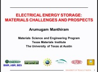 X1.01 - Electrical Energy Storage: Materials Challenges and Prospects