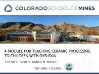 A2.02 - A Module for Teaching Ceramic Processing to Children with Dyslexia