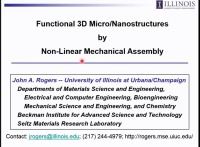 Functional 3D Micro/Nanostructures by Non-Linear Mechanical Assembly