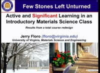 A4.08 - Active and Significant Learning in an Introductory Materials Science Class