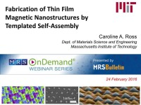 Fabrication of Thin Film Magnetic Nanostructures by Templated Self-Assembly