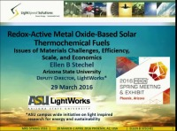 Redox Active Metal Oxide-Based Solar Thermochemical Fuels: Issues of Materials Challenges, Efficiency, Scale, and Economics