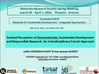 Societal Perception of Nanomaterials, Sustainable Development and Responsible Research: A French Interdisciplinary Approach
