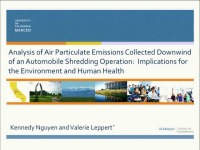 Analysis of Air Particulate Emissions Collected Downwind of an Automobile Shredding Operation: Implications for the Environment and Human Health