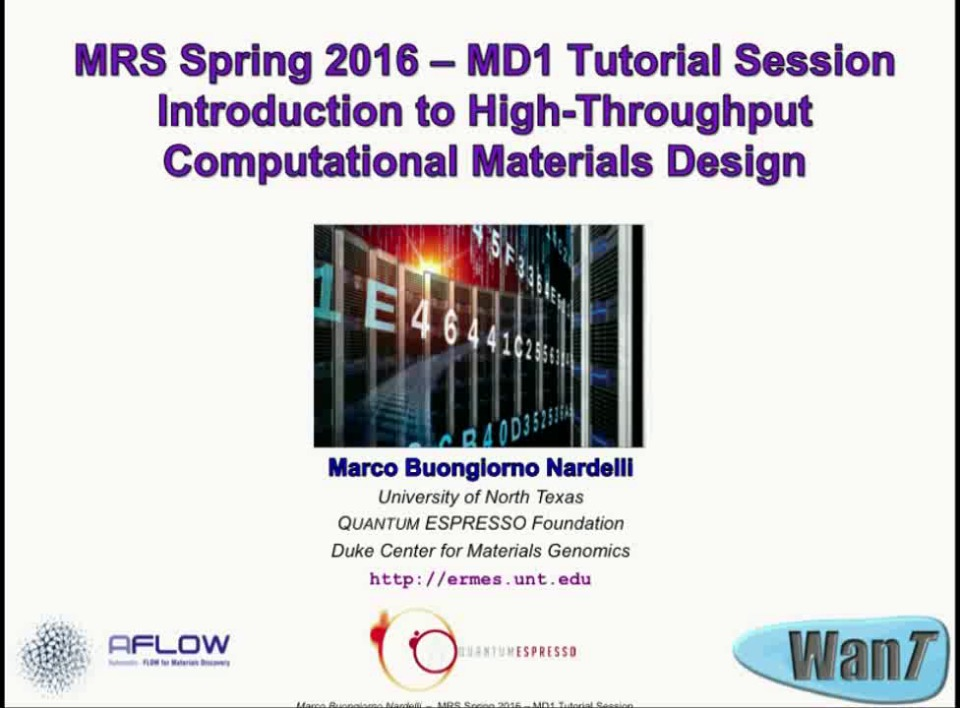 Part II: Theory for Computational Materials Design