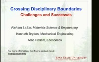 Part III: Crossing Disciplinary Boundaries - Challenges and Successes