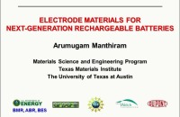 Part I: Electrode Materials for Next Generation Rechargeable Batteries