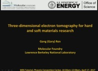 Introduction to Advanced Imaging and Tomography Techniques for Transmission Electron Microscopy: Three-Dimensional Electron Tomographic for Hard and Soft Materials Research - Part 2