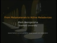 Plasmonics and Metamaterials for Active Photonics Devices: From Metamaterials to Active Metadevices - Part 4