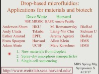 Drop-Based Microfluidics - Applications for Materials and Biotech