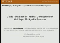 Giant Tunability of Thermal Conductivity in Multilayer MoS2 with Pressure