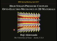 High Strain Coupled Opto-Electro-Mechanics in Layered Materials