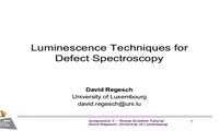 Luminescence Techniques for Defect Spectroscopy