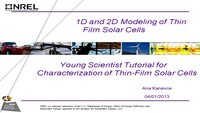 1D and 2D Device Simulations of Thin-Film Solar Cells