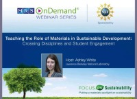 Teaching the Role of Materials in Sustainable Development: Crossing Disciplines and Student Engagement