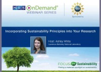 Incorporating Sustainability Principles into Your Research